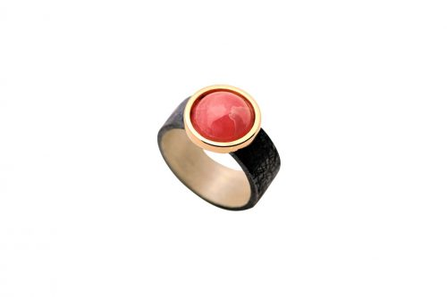 anillo plata y oro